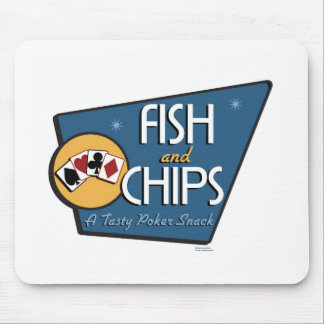 Poker - Fish & Chips Mouse Pad