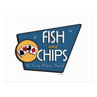 Poker - Fish & Chips Postcard