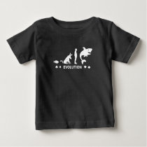Poker Fish To Shark Evolution Mens Funny Poker T-S Baby T-Shirt