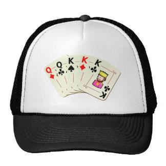 Poker Full House Trucker Hats