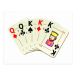 Poker Full House Post Card