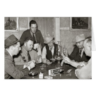 Poker Game, 1939 Card