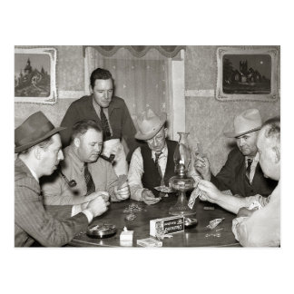 Poker Game, 1939 Postcard
