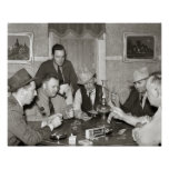 Poker Game, 1939 Print