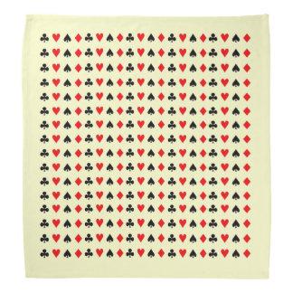 Poker game cards symbols bandana