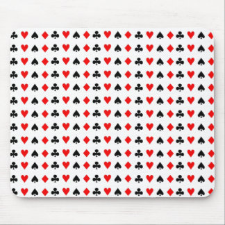 Poker game cards symbols mouse pad