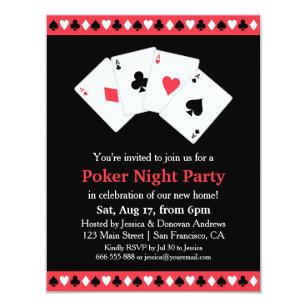 Poker Party Invitations Zazzle