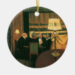 Poker game painting by Vallotton players at table Christmas Ornament