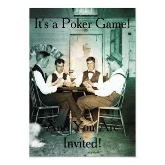 Poker Game Photograph Invitation Invite Men 1890