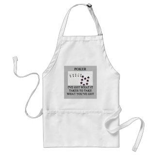 poker game player joke adult apron
