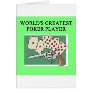 POKER game player joke Cards