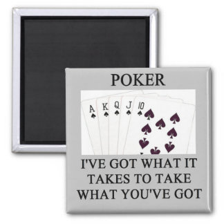 poker game player joke magnet