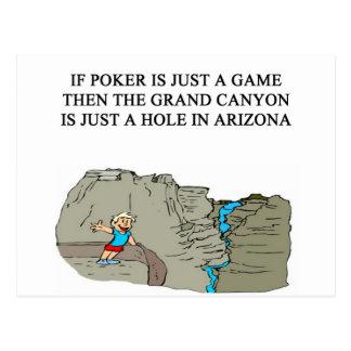 poker game player joke postcard