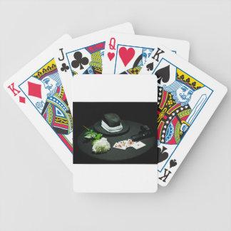 Poker gangster gun rose bicycle playing cards