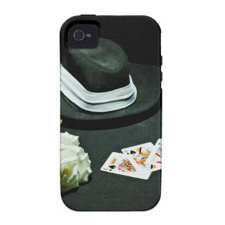 Poker gangster gun rose Case-Mate iPhone 4 covers