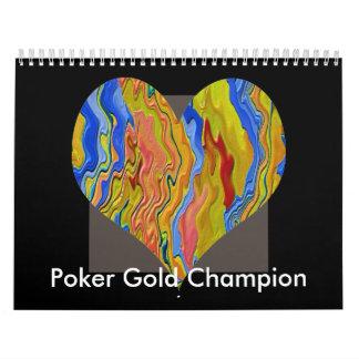 Poker Gold Champion Calendar