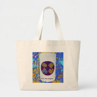 Poker Gold Champion Glass Canvas Bag