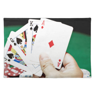 Poker good hand placemat