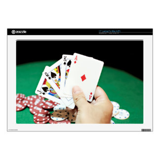 """Poker good hand decal for 17"""" laptop"""
