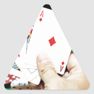 Poker good hand triangle sticker