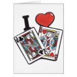 poker greeting card