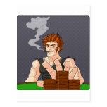 Poker Guy All In Postcard