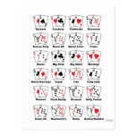 Poker Hand Nicknames Post Cards