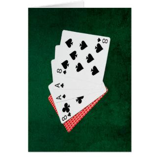 Poker Hands - Dead Man's Hand Card