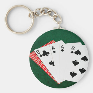Poker Hands - Dead Man's Hand Key Chains
