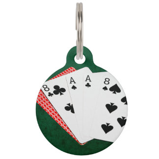 Poker Hands - Dead Man's Hand Pet Name Tag