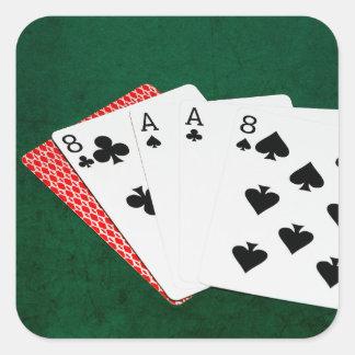 Poker Hands - Dead Man's Hand Square Sticker
