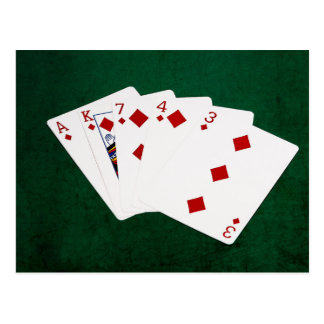 Poker Hands - Flush - Diamonds Suit Postcard