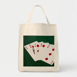 Poker Hands - Flush - Diamonds Suit Tote Bag