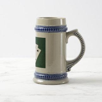 Poker Hands - Flush - Spades Suit Beer Stein