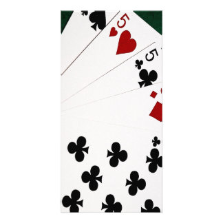 Poker Hands - Four Of A Kind - Fives and Eight Card