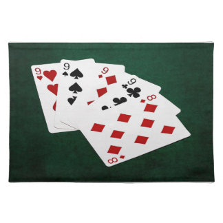 Poker Hands - Four Of A Kind - Nines and Eight Placemat