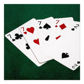 Poker Hands - Four Of A Kind - Sevens and Two Photo Print