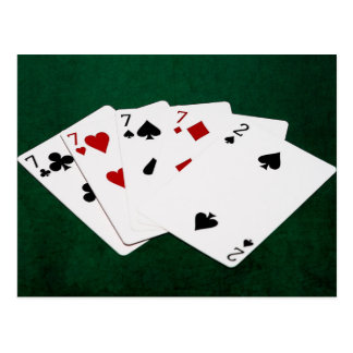 Poker Hands - Four Of A Kind - Sevens and Two Postcard