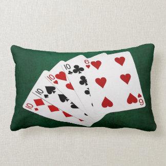 Poker Hands - Four Of A Kind - Tens and Six Lumbar Pillow