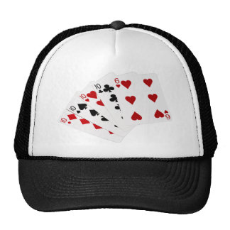 Poker Hands - Four Of A Kind - Tens and Six Trucker Hat