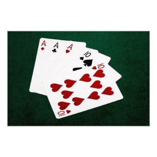Poker Hands - Full House - Ace and Ten Photo Print