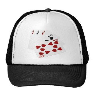Poker Hands - Full House - Ace and Ten Trucker Hat