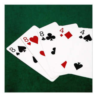 Poker Hands - Full House - Eight and Four Photo Print