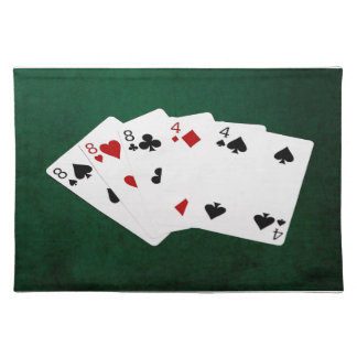 Poker Hands - Full House - Eight and Four Placemat