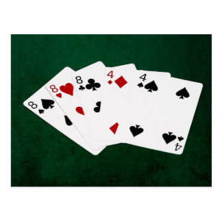 Poker Hands - Full House - Eight and Four Postcard