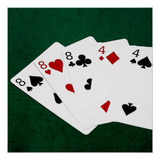 Poker Hands - Full House - Eight and Four Poster