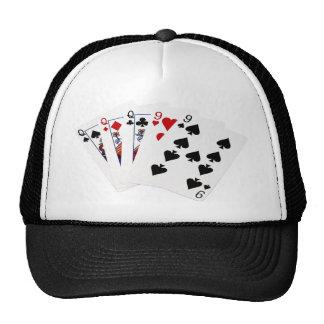 Poker Hands - Full House - Queen and Nine Trucker Hat