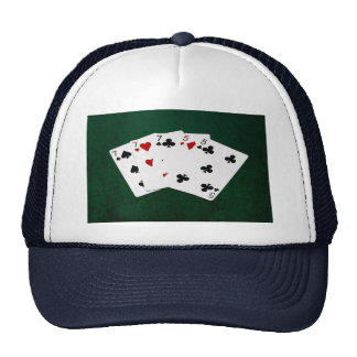 Poker Hands - Full House - Seven and Five Trucker Hat