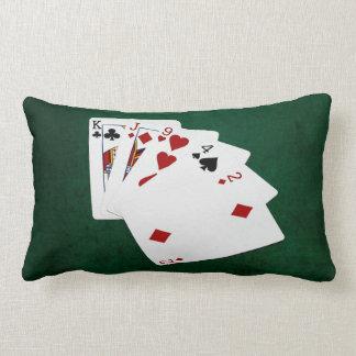 Poker Hands - High Card - King Lumbar Pillow