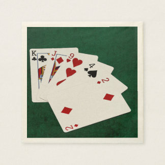 Poker Hands - High Card - King Paper Napkin